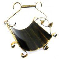 Metalinis malkų dėklas