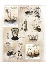 įrankiai prie židinio, stovai gelems, geliu stovas, baldai iš metalo, metaliniai baldai, dirbiniai iš metalo, interjeras, interjero detalės, metalines zvakides, pakabos, stalas, kušetės,,