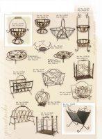 laikraštinė, stovas buteliams, įrankiai prie židinio, stovai gelems, geliu stovas, baldai iš metalo, metaliniai baldai, dirbiniai iš metalo, interjeras, interjero detalės, metalines zvakides, pakabos, stalas, kušetės,,