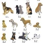šunys, dekoratyvinės skulptūros, lauko sodo dekoracijos, figuros, lauko sodo statuleles, statulos