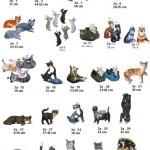 katės, dekoratyvinės skulptūros, lauko sodo dekoracijos, figuros, lauko sodo statuleles, statulos