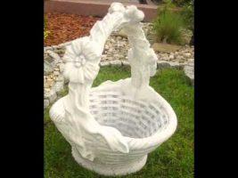 krepšis, dekoratyvinės skulpturos, lauko sodo dekoracijos, figuros, lauko sodo statuleles, statulos
