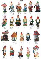 nykštukai, dekoratyvinės skulptūros, lauko sodo dekoracijos, figuros, lauko sodo statuleles, statulos