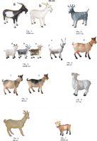ožka , ožys, dekoratyvinės skulptūros, lauko sodo dekoracijos, figuros, lauko sodo statuleles, statulos