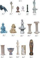 kolonos, dekoratyvinės skulptūros, lauko sodo dekoracijos, figuros, lauko sodo statuleles, statulos