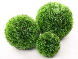 Dirbtiniai gėlė burbulas SAMŠIT ivairiu spalvu ir didžiu, žalios spalvos, 10; 20; 25; 30; 45 cm