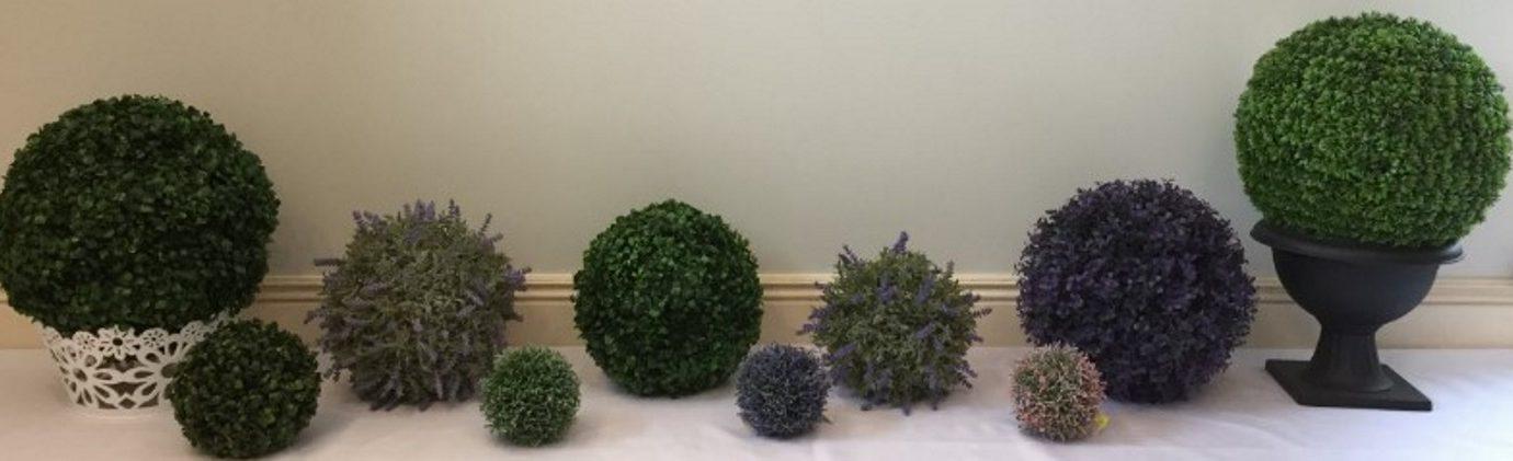 Buksmedis-dirbtiniai-gėlės-burbulas-ivairiu-spalvu-ir-didžiu-10-20-25-30-45-cm