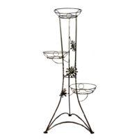 Gėlių stovas 3 gėlėms (96X40cm), stovas gėlėms, stovas gėlei, gėlių stovai, vazono laikiklis, vazono stovas, vazono padėklas