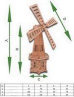 Vėjo malūno matmenys