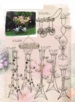 Stovai gėlėms, stovas gėlei, gėlių stovai, vazono laikiklis, vazono stovas, vazono padėklas