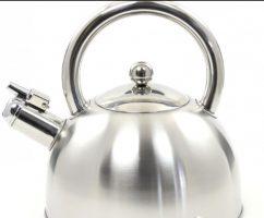 virdulys metalinis 2 litrų su švilpuku, metalinė rankena ,
