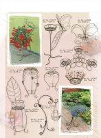 gėlių stovas, stovai gėlėms, metaliniai baldai, interjeras, interjero detalės, interjero aksesuarai,,
