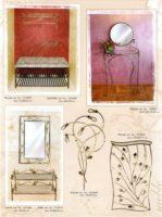 interjeras, stalas, baldai,kušetės, kedės,interjero detalės, metalines zvakides, įrankiai prie židinio, pakabos, stovai gelems, geliu stovas, metaliniai baldai, dirbiniai iš metalo .