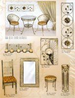 kušetės, kedės, interjeras, interjero detalės, metalines zvakides, įrankiai prie židinio, pakabos, stalas, stovai gelems, geliu stovas, baldai iš metalo, metaliniai baldai, dirbiniai iš metalo (2)