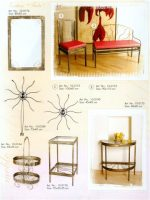 stalas, baldai,kušetės, kedės, interjeras, interjero detalės, metalines zvakides, įrankiai prie židinio, pakabos, stovai gelems, geliu stovas, metaliniai baldai, dirbiniai iš metalo