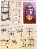 stalas, kušetės, kedės, interjeras, interjero detalės, metalines zvakides, įrankiai prie židinio, pakabos, stovai gelems, geliu stovas, baldai iš metalo, metaliniai baldai, dirbiniai iš metalo ,