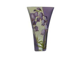 vazos gėlėms, vazos stiklinės, vaza su piešiniu