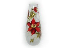 vazos stiklinės, vazos gėlėms, vaza su piešiniu